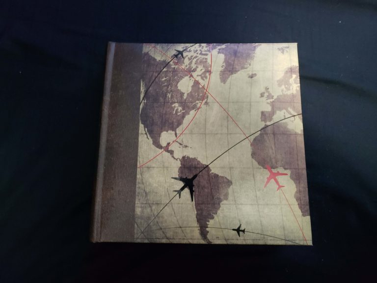 6x4 Book Cover, with a map and planes on it